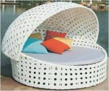Elegante Rattan muebles de exterior juego de jardín antiguo daybed