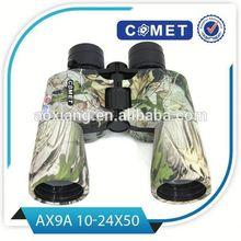 2015 Custom 10-24x50 binoculars,red&white mini zoom binocular