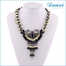 new design brown acrylic alloy butterfly statement necklace in london