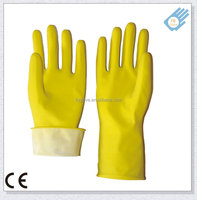 """""""Food Touch Approved"""" Latex Rubber Dipped Flocklined Household Hand Kitchen Glove"""
