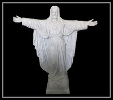 Natural marble custom made jesus christ statue
