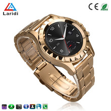 Stainless steel golden watch big screen Smart Watch A8 for android phone health care sport running bluetooth Wristwatch