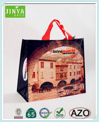 Eco-friendly PP woven shopping bags for promoting and advertising