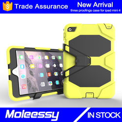 Hybrid waterproof with high quality tablet silicon case cover for iPad mini 4