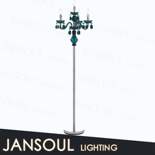 indian hot new design funky artistic green crystal standing chandelier light covers floor lamps