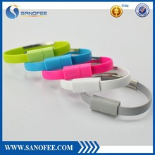USB Charging Data Sync Cable For Mobile Phone Bracelet Wrist Band Charger