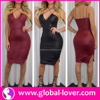 Hot style black halter neck front slit new sexy pictures of girls without dress