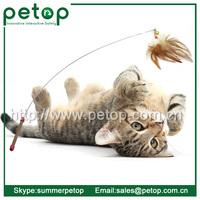 Fancy Steel Dangler Toy Cat Feather Teaser