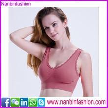 New arrival purplish stylish yoga sports girl tube sexy bra