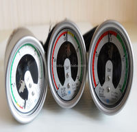 China Manufacture ISO9001,CE Back Connection bourdon tube pressure gauge for any size with alarm with flange