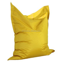 yellow hot sales bean bag, soft fur sitting coner sofa, mordern beanbag