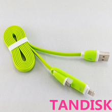Flat noodle jelly micro usb data cable for mobile phone portable charging cable for android