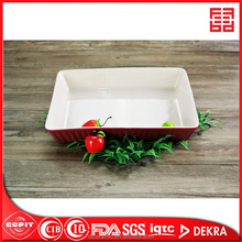 factoty direct sale microwave safe ceramic retangular bakeware