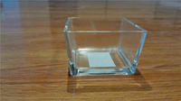 5*5*5 Machine Pressed Cube shped Brightly Clear glass Wax / glass tealight holder / glass vases