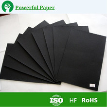 Free sample 100% virgin wood pulp C2S black paperboard/ black paperboard