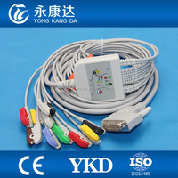 Nihon Kohden 9130 ecg cable with Grabber,IEC.for patient monitor.