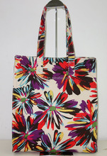 HOT AND BEST SELLING PRINTED FLORAL CANVAS HANDBAG AND FASHION BAG