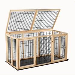 Factory wholesale stainless steel large dog kennels,easy assembly modular dog cage