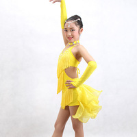 2015 Fashion child beads Latin dance dress wholesale