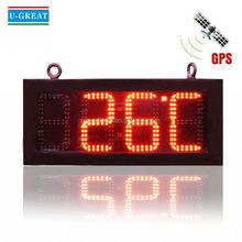 Animal inalámbrico de pared reloj con la temperatura