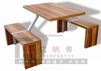High Quality Cheap Wooden Dining Table, Square Wood Restaurant Dining Table Set, Canteen Table