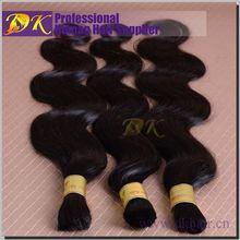 Unprocessed Wholesale DK cheap 100% brazilian bulk hair ultra braid hair