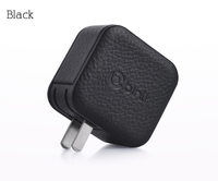 Big discount in stock CE ROHS FCC approved dual usb port genuine leather charger