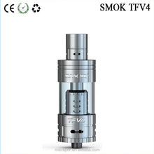 Instock! Smok tfv4 atomizer tank full kit / sigle kit black and stainless steel edition with best price
