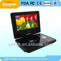 cheapest 7 inch LCD display mini notebook design portable DVD player