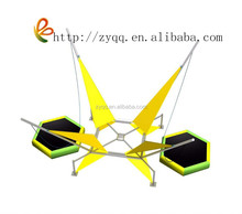 2015 Middle size indoor inflatable child metal frame Electric Bungee