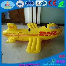 Airline Promotion Inflatable Airplane Ride On Pool Float