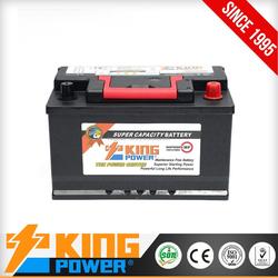 KING POWER Rechargeable Lead Acid Maintenance Free Auto battery 12V66AH DIN66MF car battery