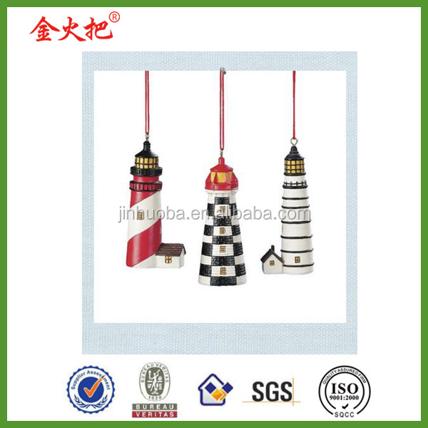 Resin lighthouse Christmas ornament
