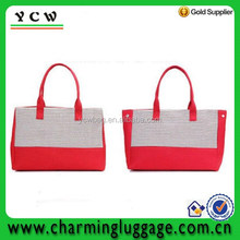 promotional economic recyclable shopping canvas bag