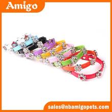 AMigo Pet hot sale high quality bling bling cyrstal flower pet dog collar