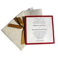 cordón de papel tarjetas de boda única tarjeta de invitación