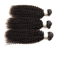 wholesale hair curlers unprocessed raw virgin indian curly hair 3pcs/lot 18inch natural black hair style