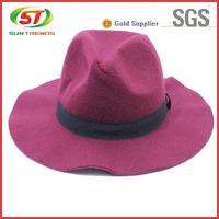 Wholesale 100% Wool Wide Brim Plain Wool Felt Hat And Church Hats