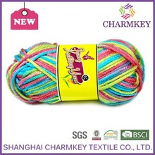 2015 Charmkey super good Acrylic yarn for hand knitting scarf
