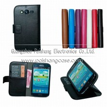 Wallet flip leather case for samsung Galaxy Grand DUOS(i9082)