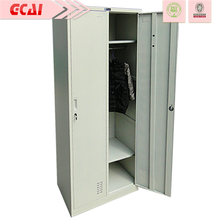 Excellent quality cheap 2 door clothing steel locker/wardrobe