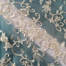 2015 NEW FASHION WEDDING DRESS DESIGN,KOREA CORD EMBROIDERY FABRIC