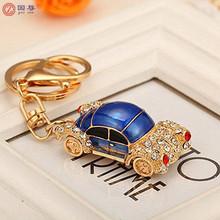 Cool Full drill car shape key chain key circle key ring key fob buckle key finder Perfect gift handbag charm key accessor