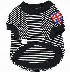 England flag printing in stripe dog clothes, stripe dog tshirt, dog grooming