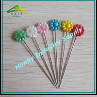 Free Shipping 55mm Pearl Flower Head Straight Hijab Pins For Women
