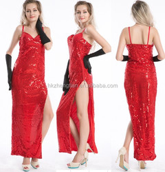 Instyles Quanzhou Ladies Costume Fancy Dress Up Jessica Red Rabbit Movie Star S-2XL