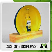 Unique hot-sale acrylic/pvc drinks display shelf