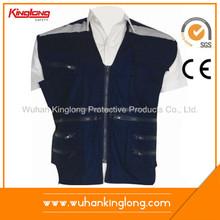 Multi Pockets Men's work reflective safety vest fabric