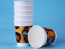 Distinctive double wall disposable paper cups