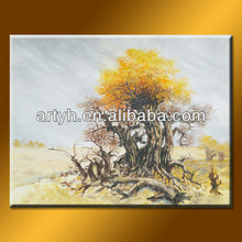 Handmade Desert Landscape Tree Painting On Canvas For Life Decor